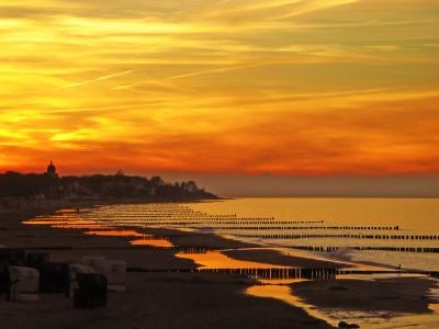 Strandabend in Kühlungsborn