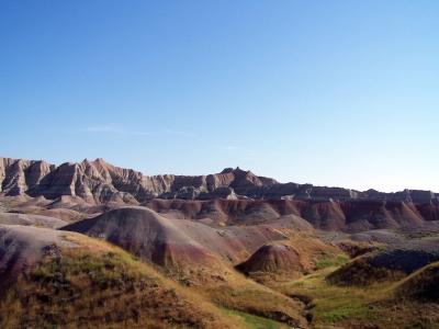 Roter Sandstein in den Badlands von South Dakota