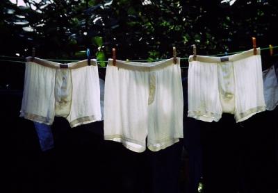 3 tote Unterhosen