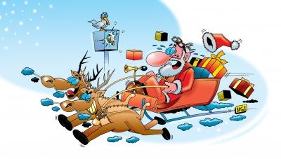 Weihnachtsmann und Ren(n)tiere