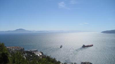 Blick von Gibraltar nach Afrika