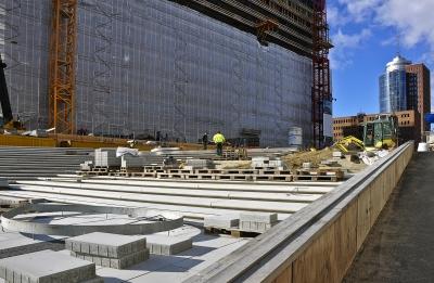 Terrassenbaustelle an der Elbphilharmonie 2