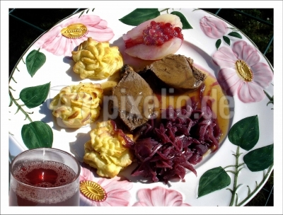 Feinschmeckermenue Wildgericht Rehrücken