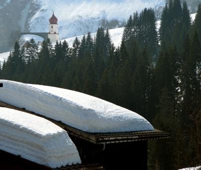 Schnee in Damüls/Vorarlberg