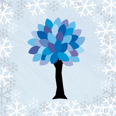 blauer Winterbaum