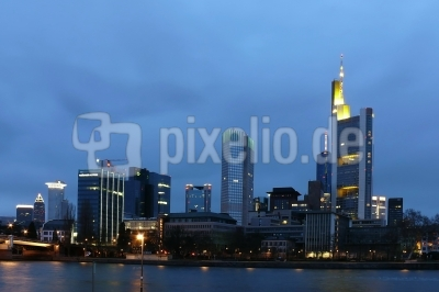 Blaue Stunde in Frankfurt/M