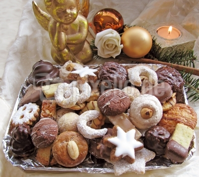 Zitronenschnitten Weihnachtsgebäck.Kostenloses Foto Weihnachtskekse Pixelio De