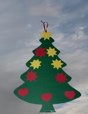 Fenster tannenbaum weihnachten 2018 - Pinker tannenbaum ...
