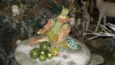 Weihnachtlicher Froschkönig