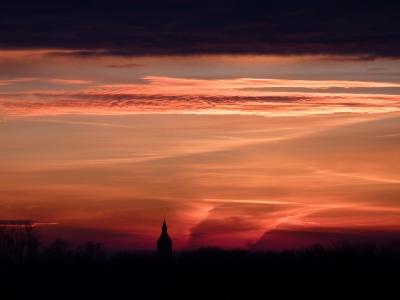 Himmel am Herbstmorgen