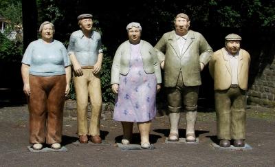 liebenswertes Rentner Denkmal