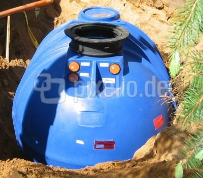 Regenwassertank mit 10.000 Liter Fassungsvermögen