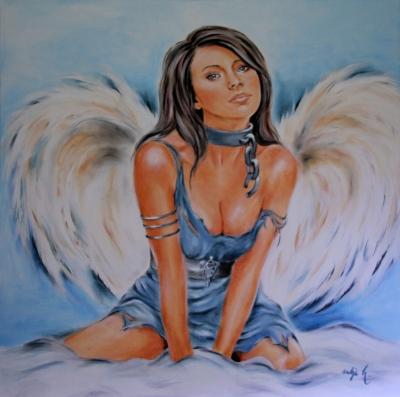 Sexy Engel / Acrylbild