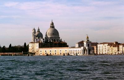 Blick auf  Santa Maria della Salute    ( Rückseite )