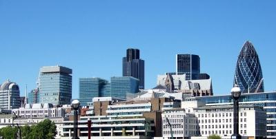London, Blick zum Bankenviertel