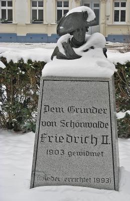 """Büste """"Friedrich II. von Preußen - Gründer von Schönwalde"""""""