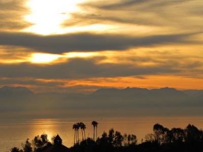 Sonnenuntergang am Mittelmeer 1