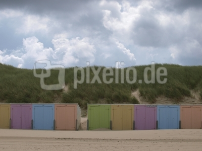 Harmonie in Farbe am Nordsee-Strand