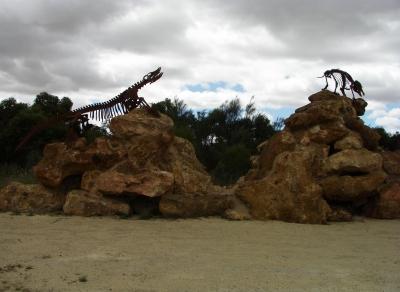 Ausgebrochene Dinosaurier