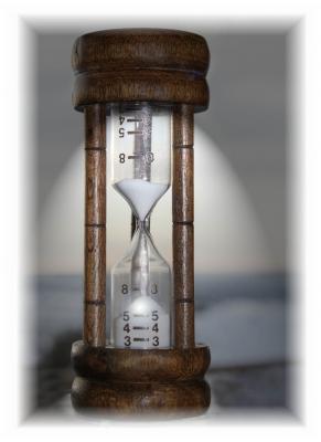 Sanduhr - die Zeit verinnt