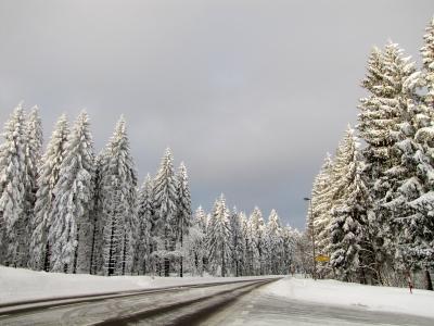Wintereinbruch an der B 500
