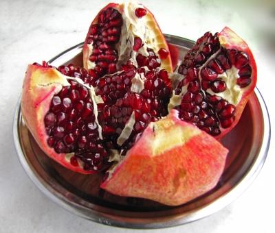 Granatapfel, geöffnet