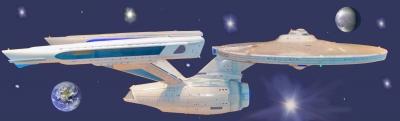 Raumschiff  'Enterprise' im All