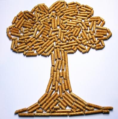 Holzpellet Baum