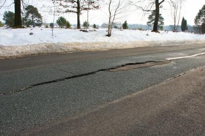 Straße kaputt