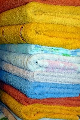 frische Handtücher