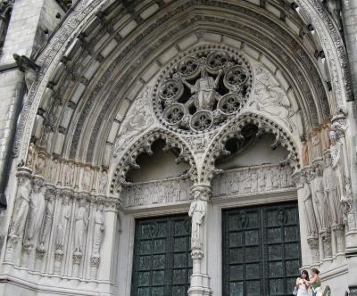 Gotisches Kirchenportal in NYC