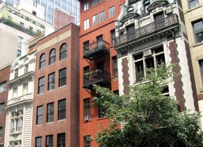 Historische Häuserfront in NYC