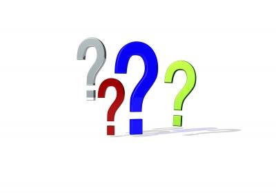 Fragezeichen 3d