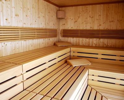 einladende Sauna