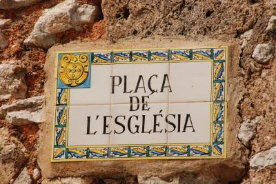 Kirchplatz Dorf Orient Mallorca
