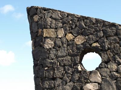 Felswand mit Loch