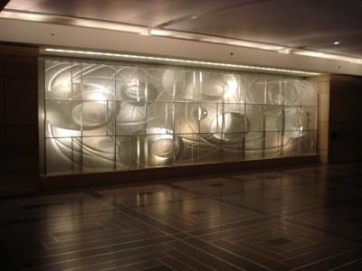 edle Dekorationswand im Rockefeller Center - New York