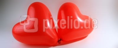 Herzballons-Banner