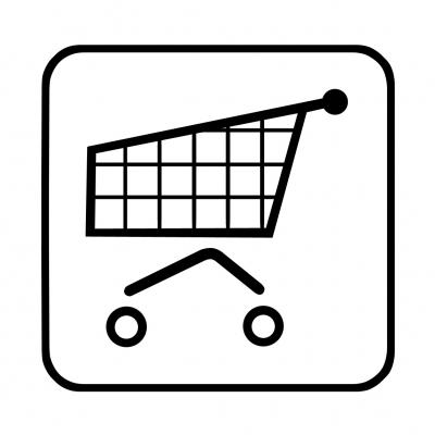 Hinweisschild: Einkaufen