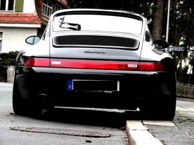 Rückansicht Porsche Carrera