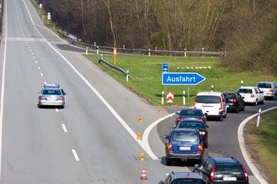 Vollsperrung der Autobahn