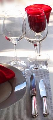 Tisch-Deko rot-weiss