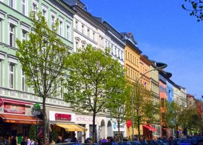 Bergmannstraße im Frühling