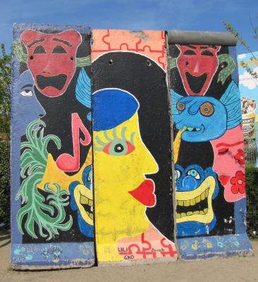 Mauerreste als Kunstobjekt