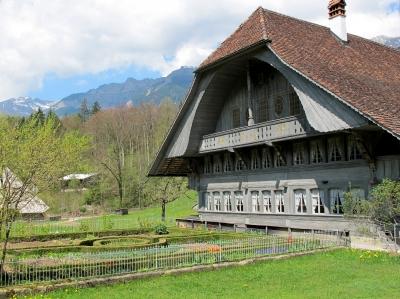 Bauernhaus mit Garten