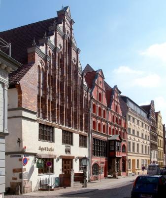 Giebelhäuser in der Badenstraße