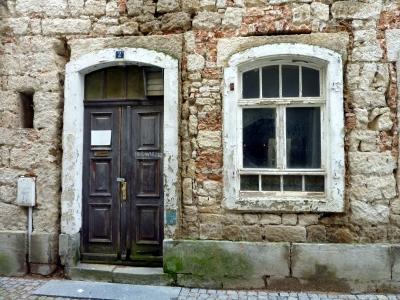 Fassade eines Hauses in Bad Schandau ( Sachsen )