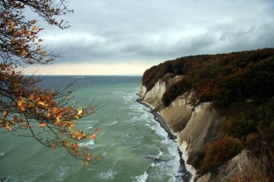 Herbst an der Steilküste