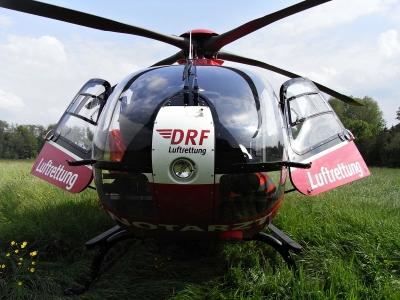 rettungshelikopter von vorne