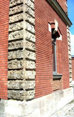 gemauerte Hausecke